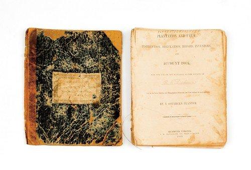15: Virginia plantation account book, pub. 1852 for t