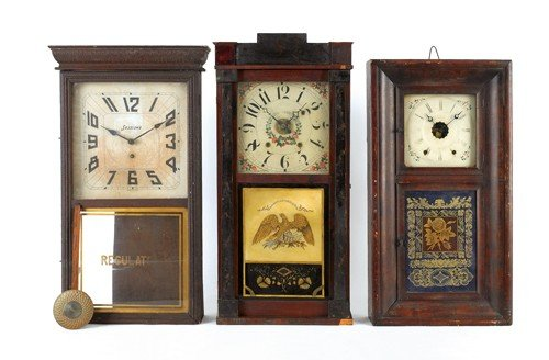 20: Three Empire mantle clocks, 30 1/4'' h., 33'' h. an