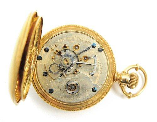 229: Rockford Watch Co., 18k gold pocket watch with hu - 3