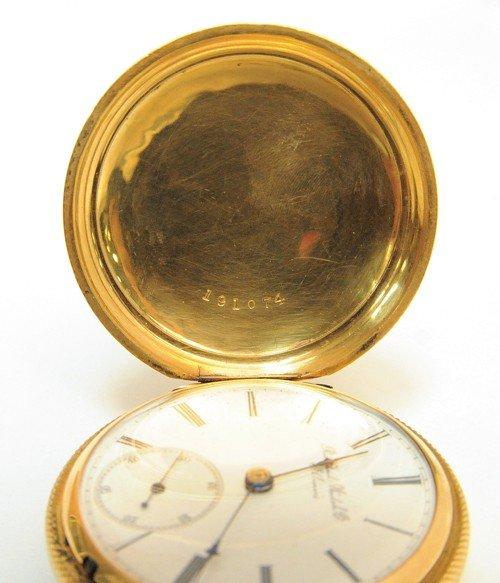 229: Rockford Watch Co., 18k gold pocket watch with hu - 4