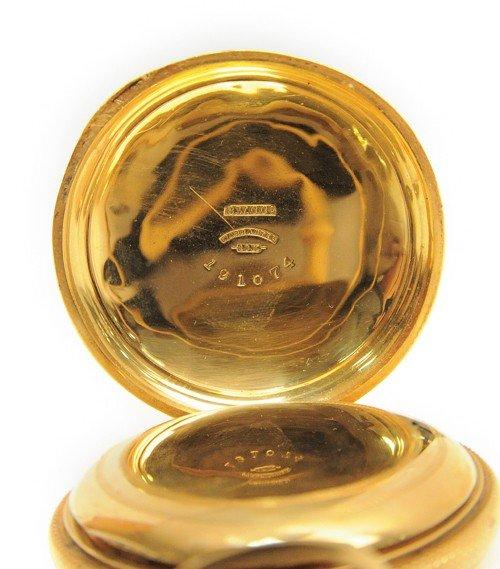 229: Rockford Watch Co., 18k gold pocket watch with hu - 5