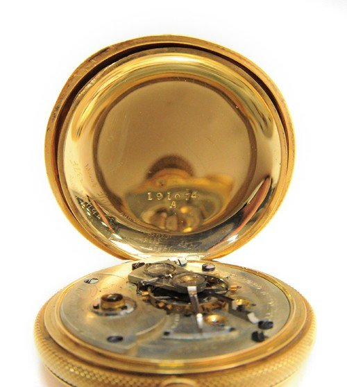 229: Rockford Watch Co., 18k gold pocket watch with hu - 6