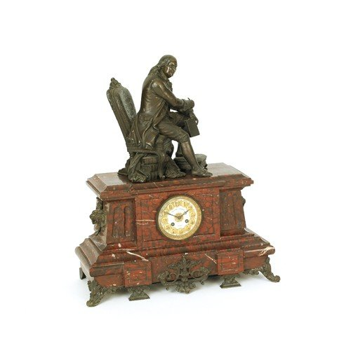 772: Marble mantle clock retailed by the Cowell & Hubb