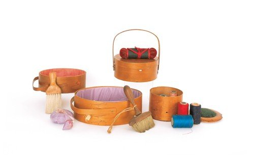 776: Collection of Shaker sewing baskets and accessori