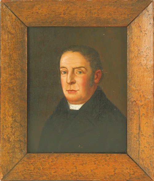 780: English oil on panel portrait of a gentleman, 19t