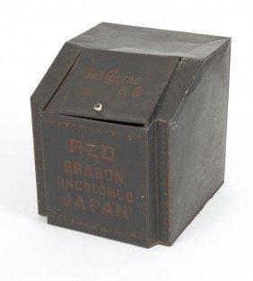 1559: Bell Conrad & Co. tin tea bin, 19 1/2'' h., 17 1