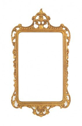 1560: Giltwood mirror, 20th c., 45 1/2'' h.