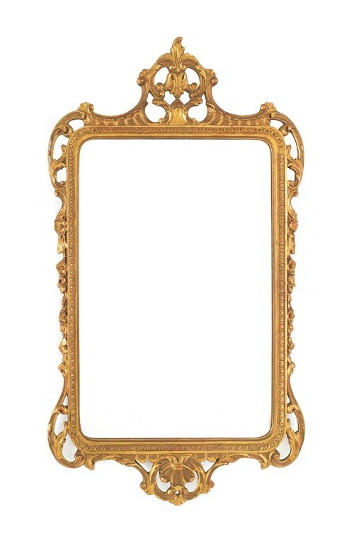 1560: Giltwood mirror, 20th c., 45 1/2'' h.