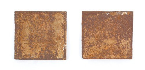 1569: Two Tenth Commandment cast iron stove plates, lat