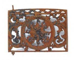 1571: Two cast iron window grates, 19th c., 31'' h., 37
