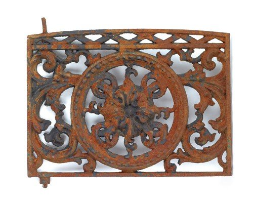 1571: Two cast iron window grates, 19th c., 31'' h., 37