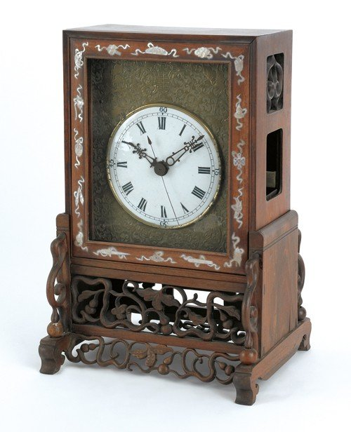 1796: Chinese mantle clock, 14 1/2'' h., 8 1/2'' l.