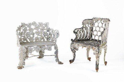 3: Two lead garden seats, late 19th c.
