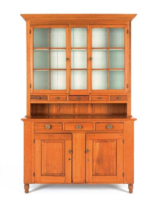 8: Pennsylvania poplar Dutch cupboard, 19th c., 87''