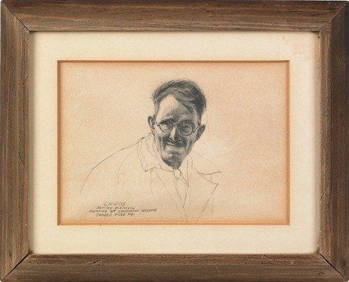 17: Barclay Rubincam (American, 1920-1978), pencil po