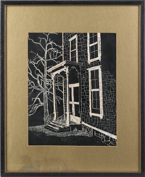 18: John A. Parke (American), two mixed media drawing