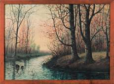 Raphael Senseman (American, 1870-1965), oil on ca