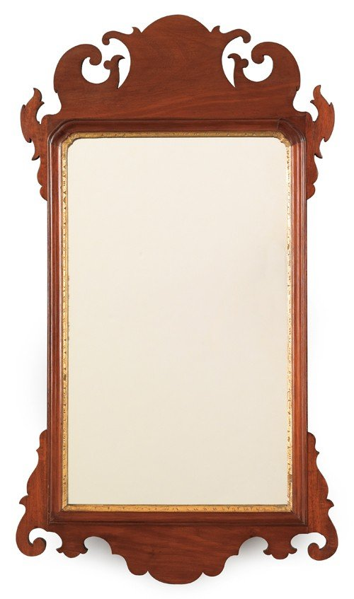 20: Chippendale mahogany looking glass, ca. 1800, 30