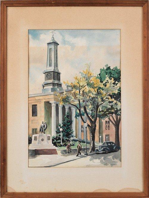 21: Philip Jamison (American, b. 1925), watercolor of
