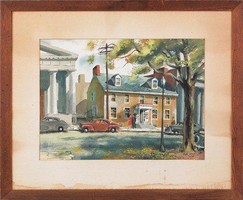 24: Philip Jamison (American, b. 1925), watercolor de