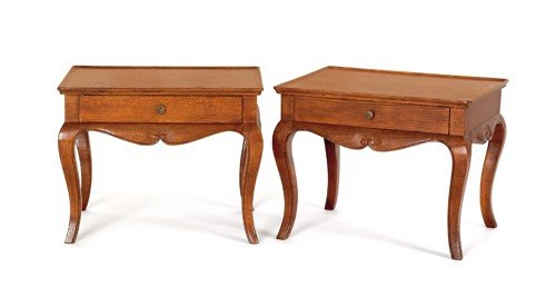 168: Pair of Italian parquetry stands, 18 1/2'' h., 23