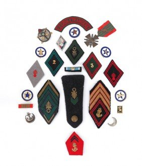 Group Of French Foreign Legion Patches And Badges