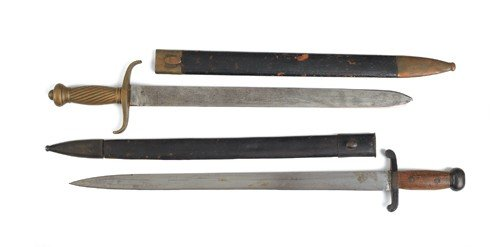 612N: Asian iron mounted short sword with 12 1/4'' blad