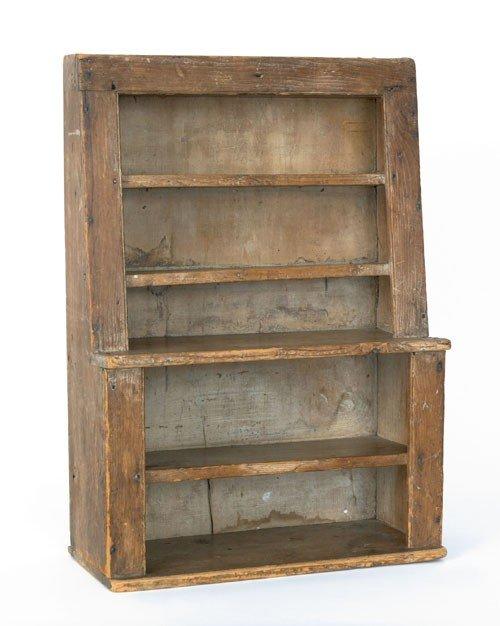 20: Miniature pine stepback cupboard, 19th c., with