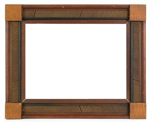 21: Pennsylvania carved and painted folk art frame,