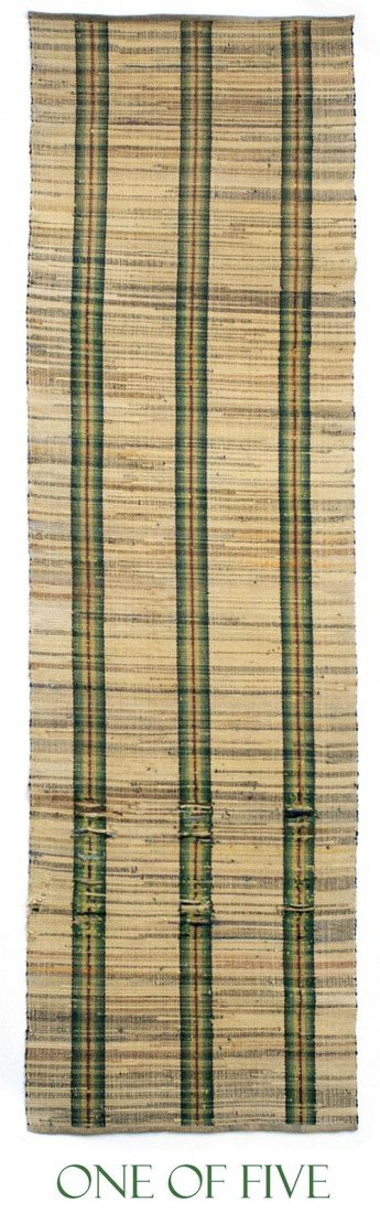 23: Five matching rag rug runners, ca. 1900, with g
