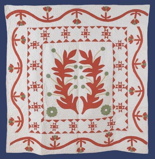 302: Pennsylvania appliqu? crib quilt, late 19th c.,