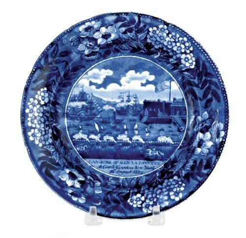 315: Historical blue Staffordshire plate, 19th c., d