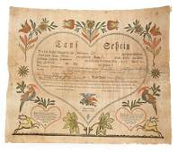 745 Samuel Baumann Ephrata printed and hand color