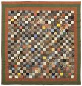 946 Pennsylvania pieced postage stamp quilt late 19