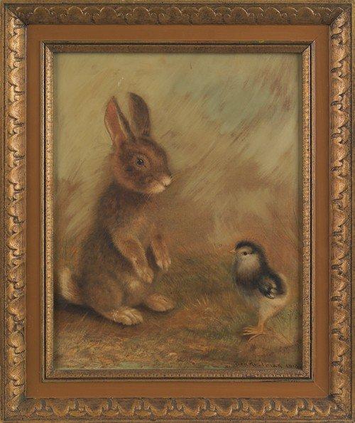 7: Ben Austrian (American, 1870-1921), oil on boar