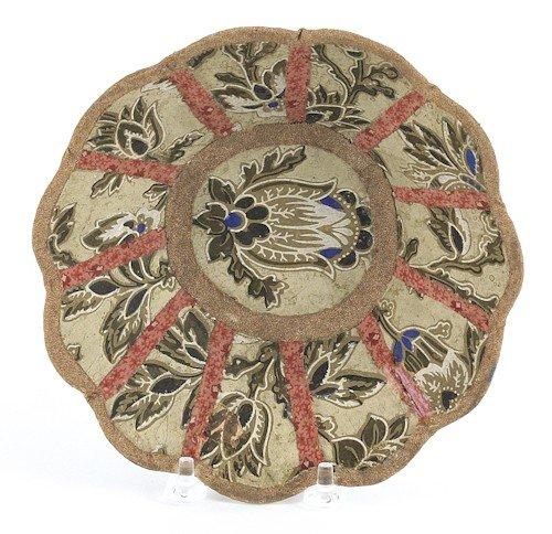19: Pennsylvania wallpaper bowl, ca. 1840, with tul