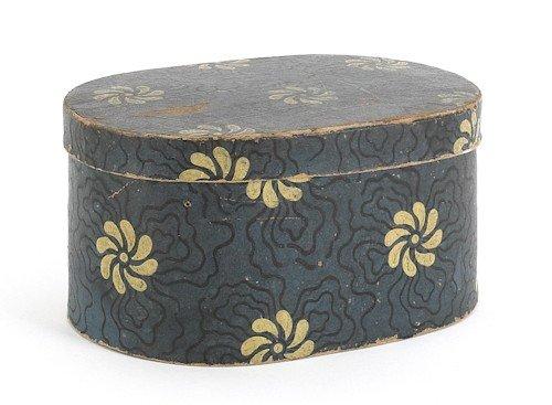 23: Pennsylvania wallpaper box, ca. 1840, with yell