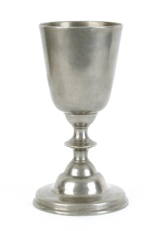 305: Philadelphia pewter chalice, attributed to Willi