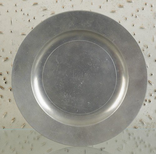 314: Philadelphia pewter plate, ca. 1775, bearing th