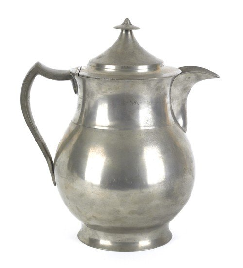 317: Philadelphia pewter water pitcher, ca. 1845, be