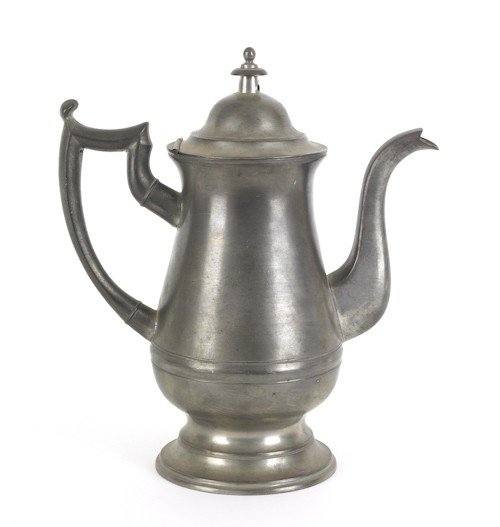 318: New England coffeepot, ca. 1825, bearing the to