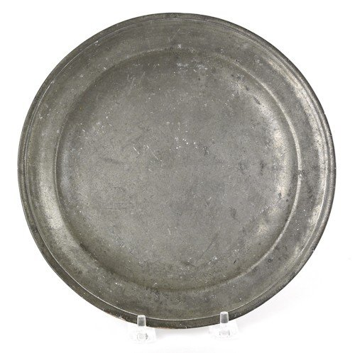 320: Providence, Rhode Island pewter plate, ca. 1780