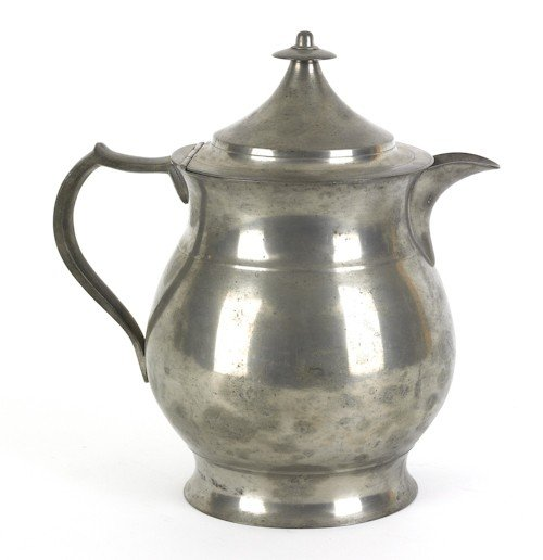 323: Philadelphia pewter water pitcher, ca. 1845, be