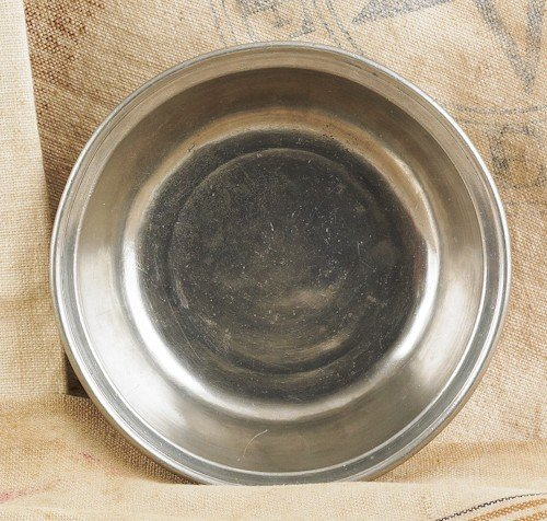 327: Philadelphia pewter basin, ca. 1780, bearing th