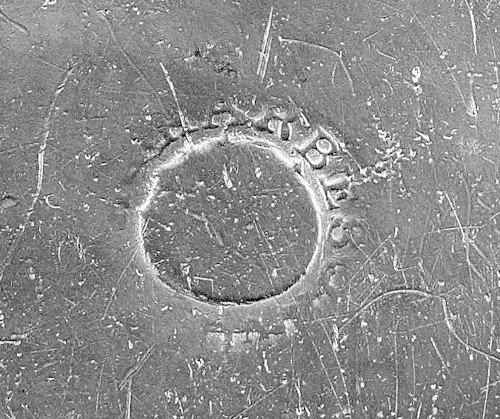 327: Philadelphia pewter basin, ca. 1780, bearing th - 2