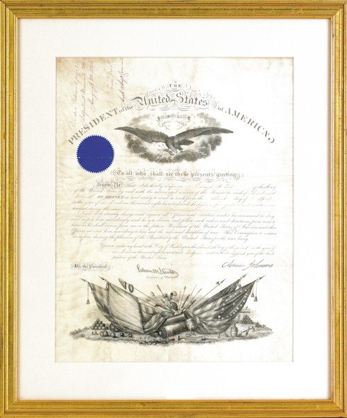 777: Abraham Lincoln signed military appointment for