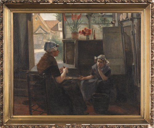 16: Dutch oil on canvas interior scene, after Kuehl,