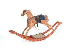 Painted Hobby Horse, 19th C., 30 1/2'' H., 55'' W.