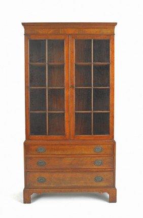 Mahogany Bookcase, Ca. 1930, 69'' H., 35'' W.