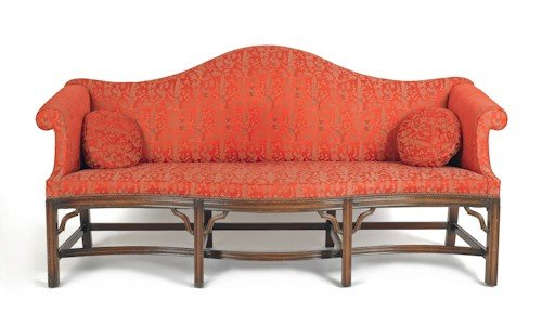 33: Chippendale style mahogany sofa, 38 3/4'' h., 79''
